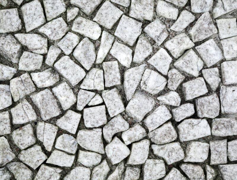 Mosaico di pietra bianco antico fotografie stock libere da diritti