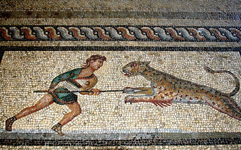 Mosaico do assoalho, o Rodes fotografia de stock
