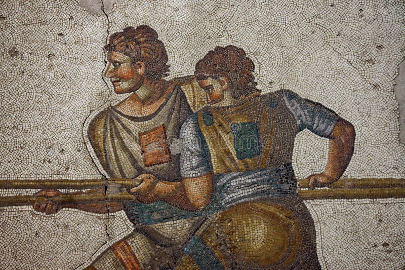 Mosaico do bizantino de Magnigficent fotografia de stock royalty free