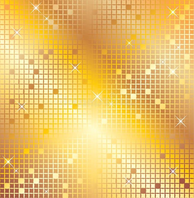 Mosaico do ouro ilustração stock