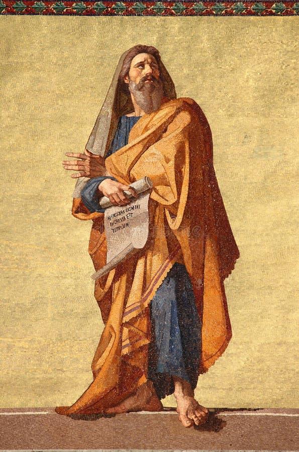 Mosaico do profeta Jeremiah fotos de stock