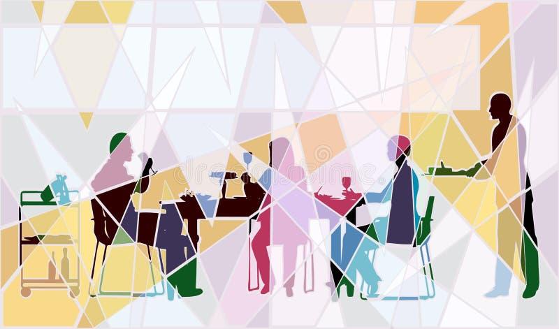 Mosaico do restaurante ilustração do vetor