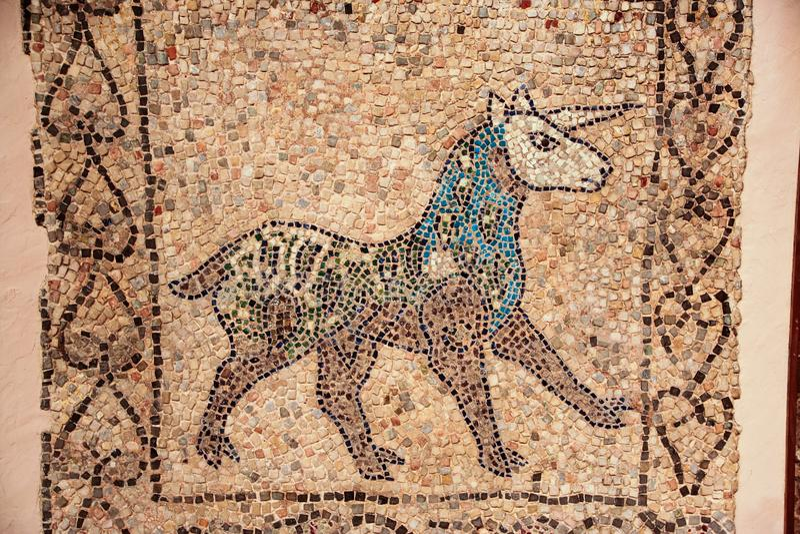 Mosaico do unicórnio fotografia de stock