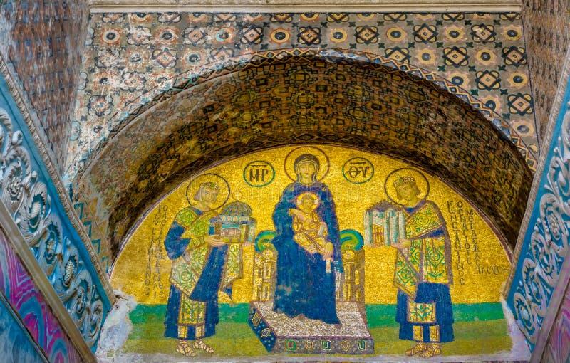 Mosaico do Virgin Mary e do Jesus Cristo imagem de stock royalty free