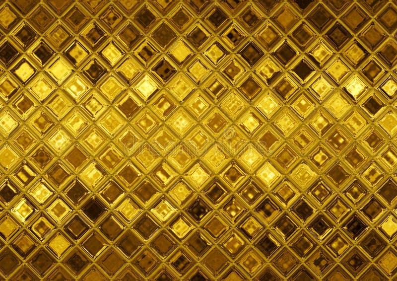 Mosaico dorato fotografie stock libere da diritti
