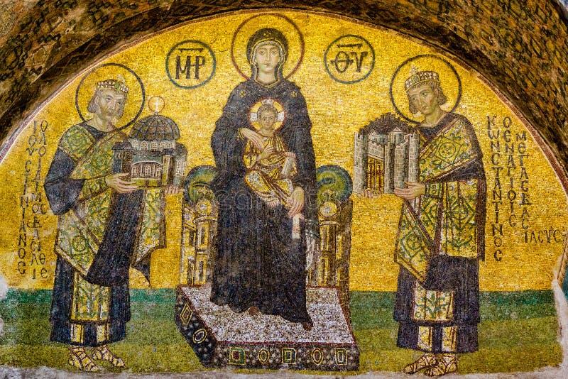 Mosaico em Hagia Sófia, Istabul fotografia de stock