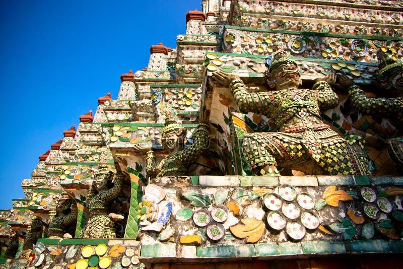 Mosaico em Wat Arun imagem de stock