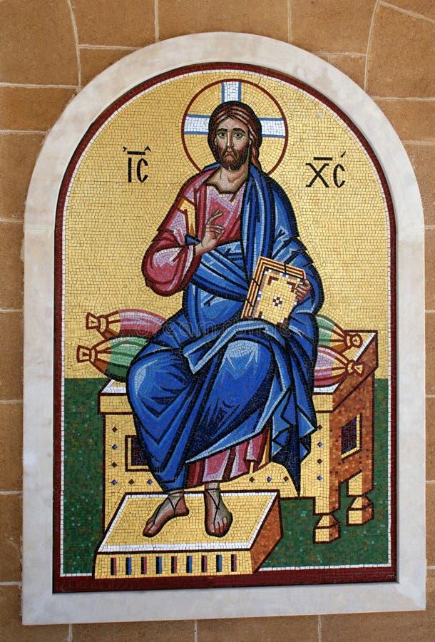 Mosaico embaldosado religioso fotografía de archivo