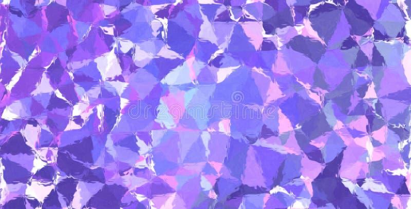 Mosaico en colores pastel púrpura y azul a través del ejemplo del fondo de los ladrillos de cristal ilustración del vector