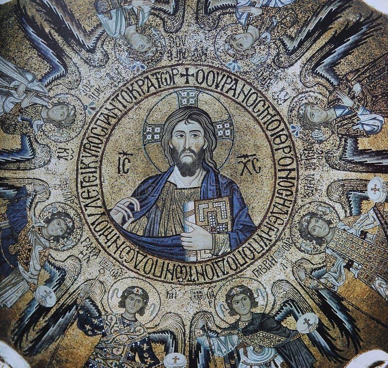 Mosaico en el palacio de los normandos, Palermo, Sicilia, Italia fotografía de archivo libre de regalías