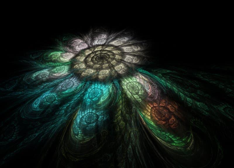 Mosaico espiral del fractal foto de archivo libre de regalías