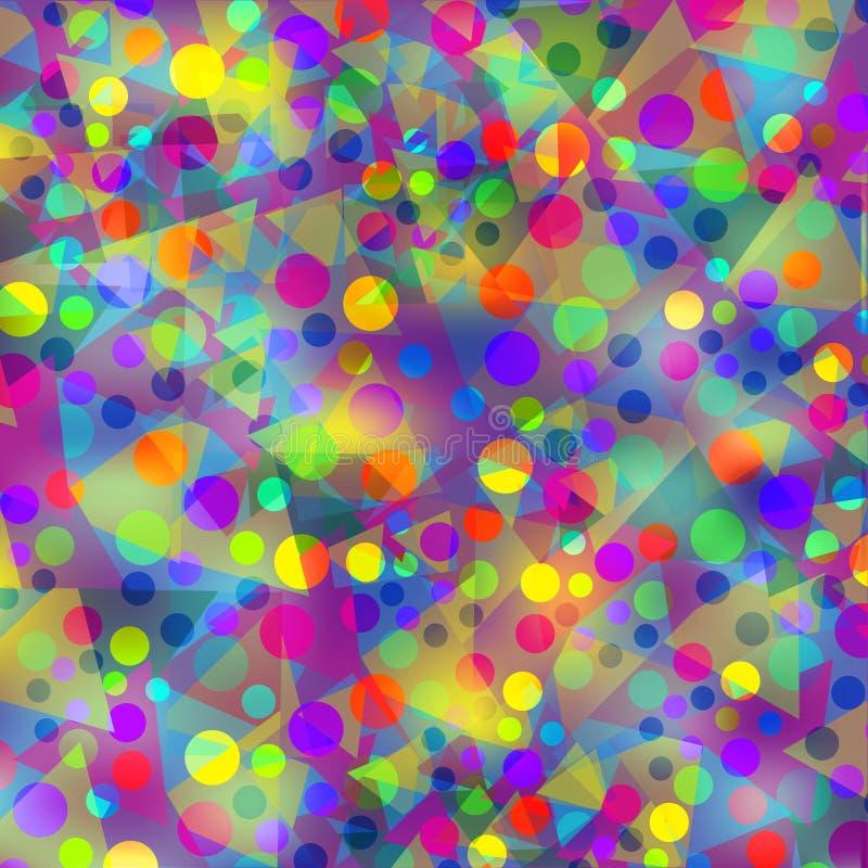 Mosaico geométrico colorido abstracto, ejemplo lindo Sh libre illustration