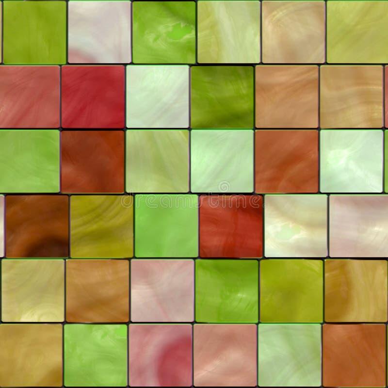 Mosaico inconsútil del azulejo stock de ilustración