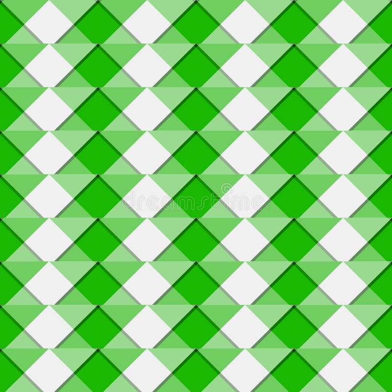 Mosaico irregolare, fondo di griglia/modello ripetibili - Geometr illustrazione vettoriale