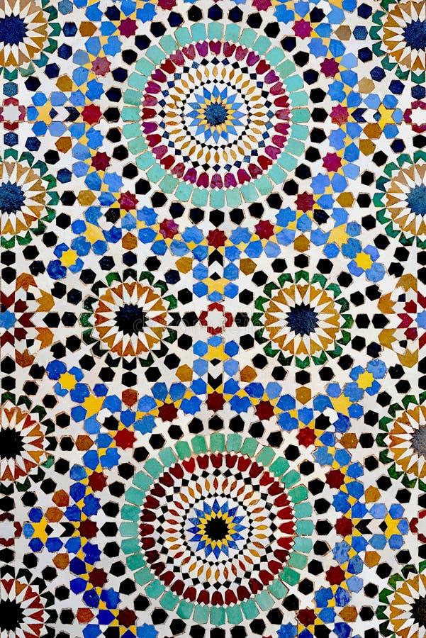 Mosaico islamico tradizionale fotografie stock
