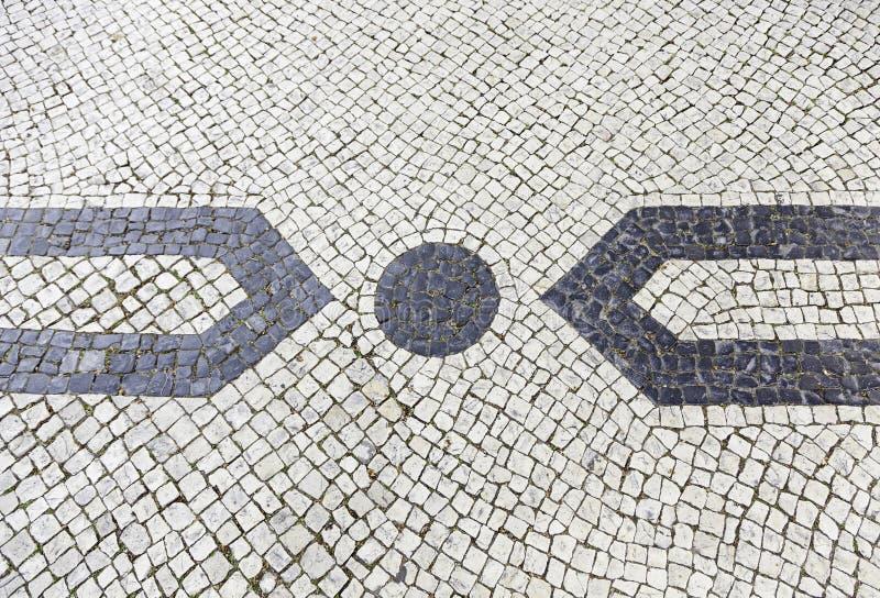Mosaico Lisboa típica fotografía de archivo