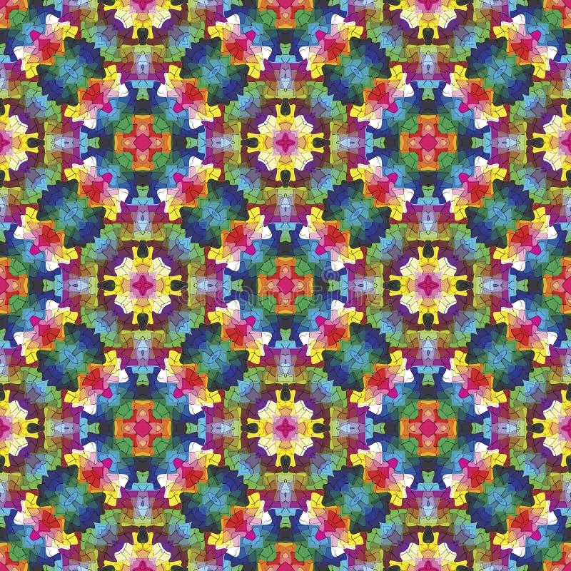 Mosaico moderno nello stile orientale royalty illustrazione gratis