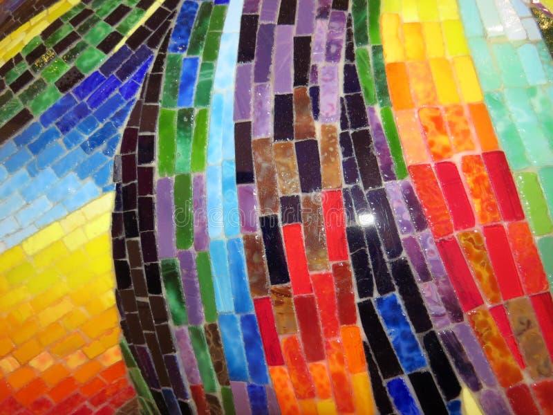 Mosaico multicolore dello smalt dalle paci di vetro fotografia stock