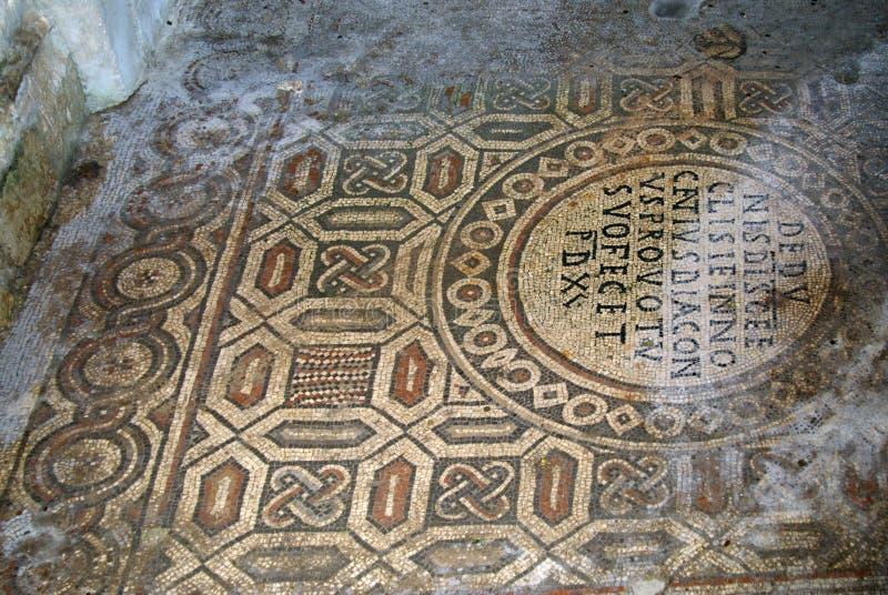 Mosaico na basílica de Euphrasian em Porec, Croácia imagens de stock
