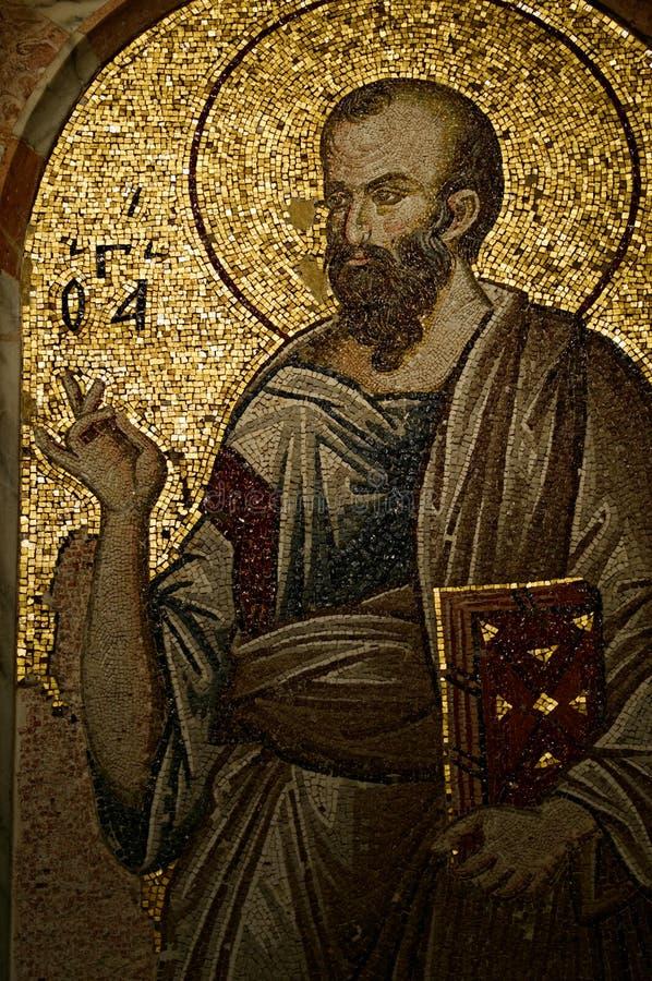 Mosaico na igreja de Chora fotografia de stock
