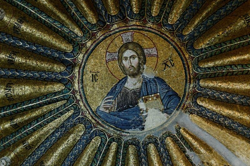 Mosaico nella chiesa di Chora, immagine stock