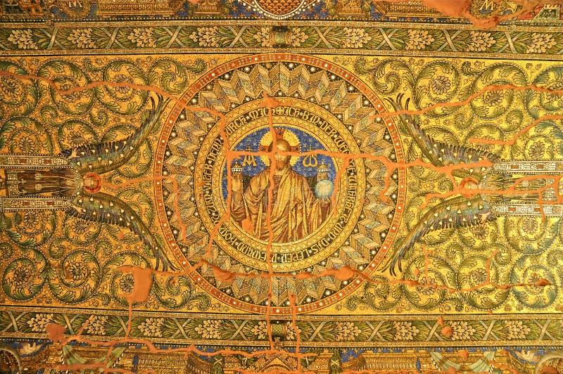 Mosaico no Kaiser Wilhelm Memorial Church, Berlim fotografia de stock royalty free