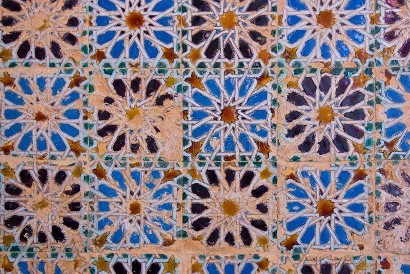 Mosaico no monastério de Cartuja, Sevilha, Spain fotografia de stock royalty free