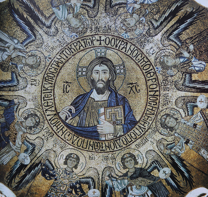 Mosaico no palácio dos normandos, Palermo, Sicília, Italia fotografia de stock royalty free