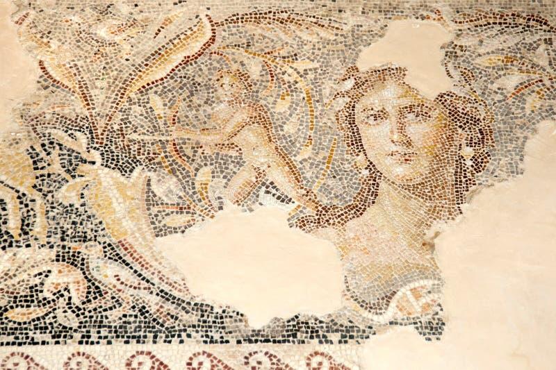 Mosaico no parque nacional Zippori (Tsipori) israel imagem de stock royalty free