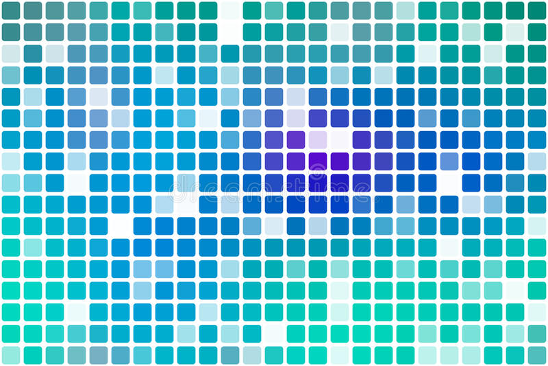 Mosaico occasionale porpora di opacità del blu di turchese sopra bianco royalty illustrazione gratis