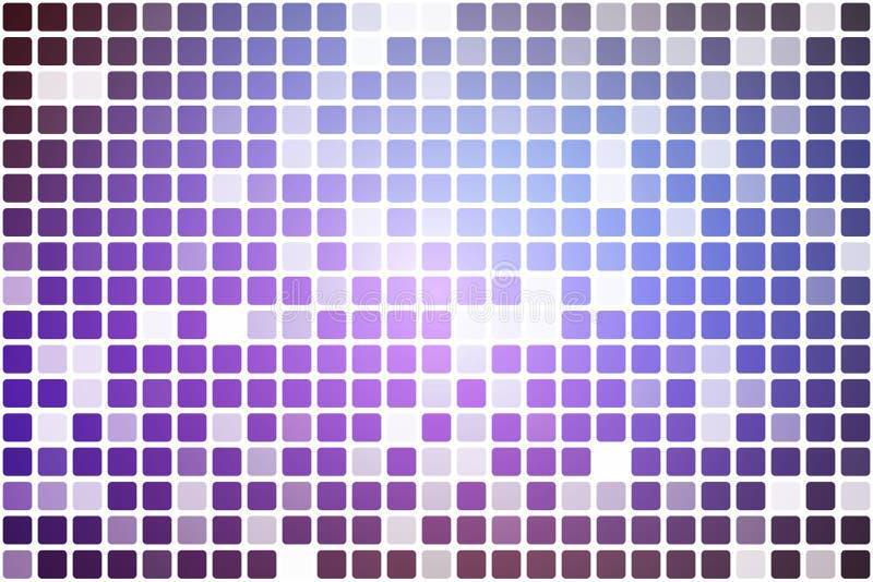Mosaico occasionale rosa lilla porpora di opacità sopra bianco royalty illustrazione gratis