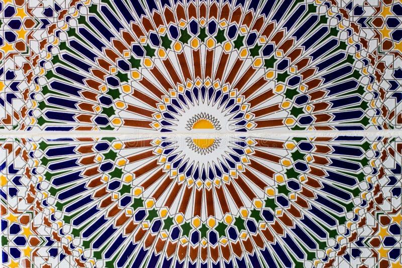 Mosaico oriental em Marrocos ilustração do vetor