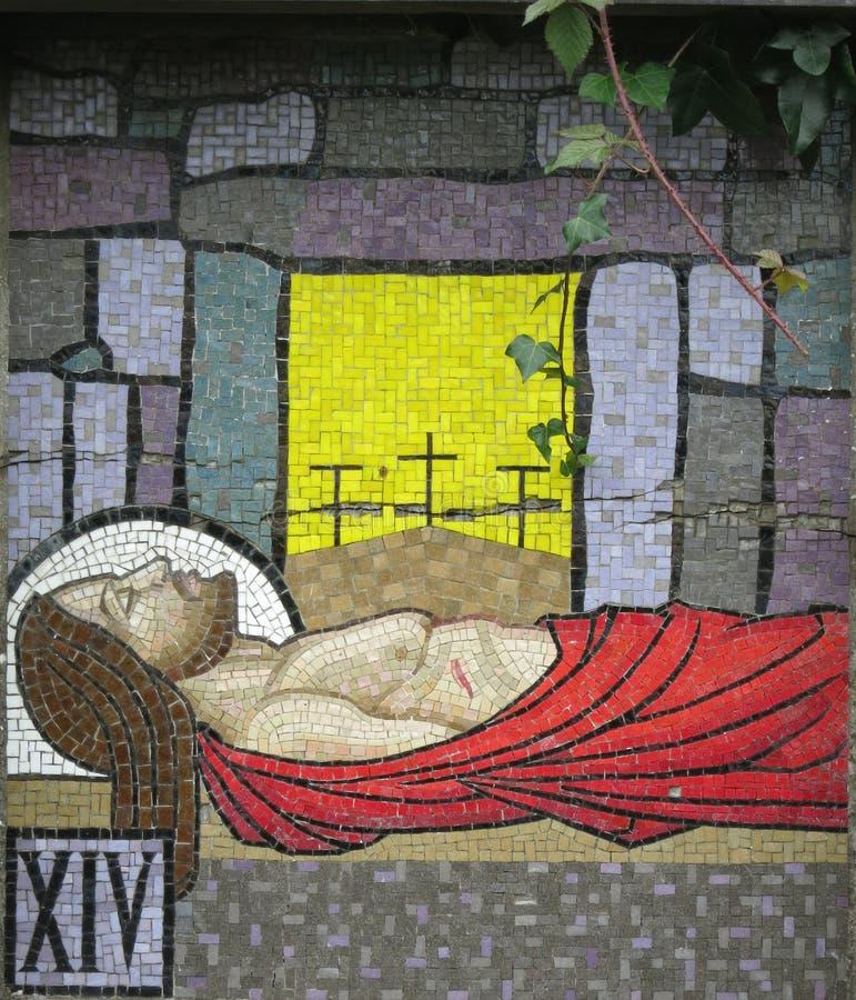 Mosaico - quattordicesima stazione del Ballina trasversale Irlanda fotografie stock libere da diritti