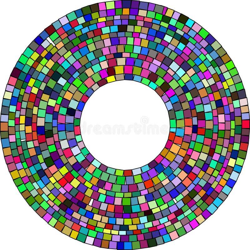Mosaico radiale quadrato illustrazione vettoriale