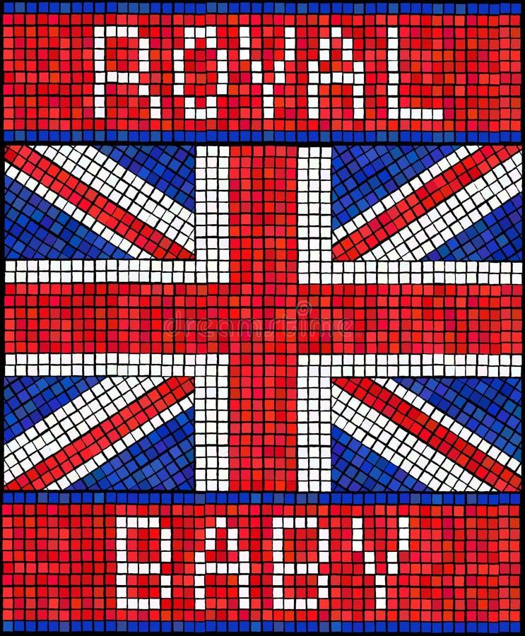 Mosaico real del bebé stock de ilustración