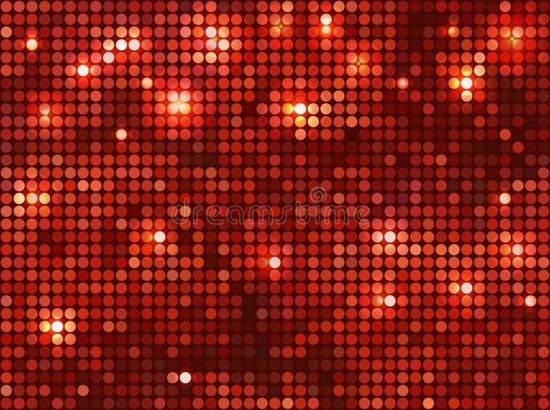 Mosaico Rojo Horizontal Fotos de archivo