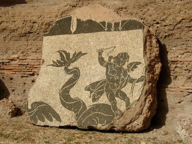 Mosaico romano imagenes de archivo