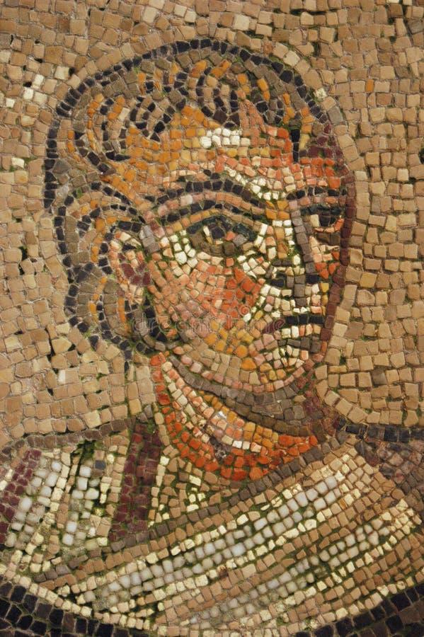Mosaico romano antiguo del patrón rico foto de archivo