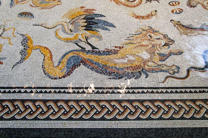 """Mosaico romano encontrado en mún Vilbel, ¿de Germanyï"""" imágenes de archivo libres de regalías"""