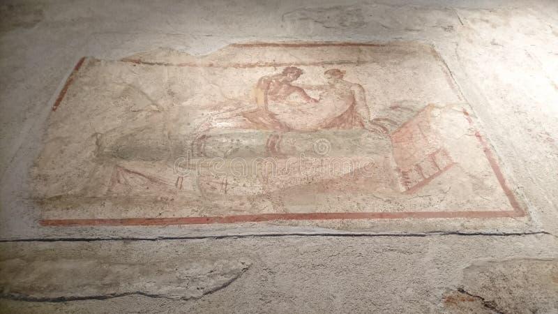 Mosaico romano sexual imágenes de archivo libres de regalías