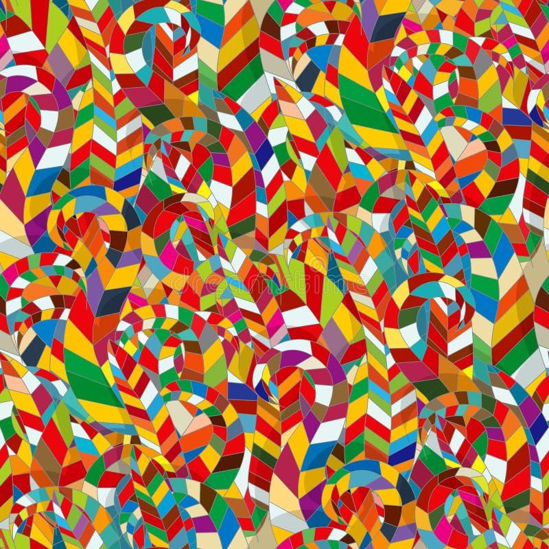 Mosaico sem emenda da cor ilustração royalty free