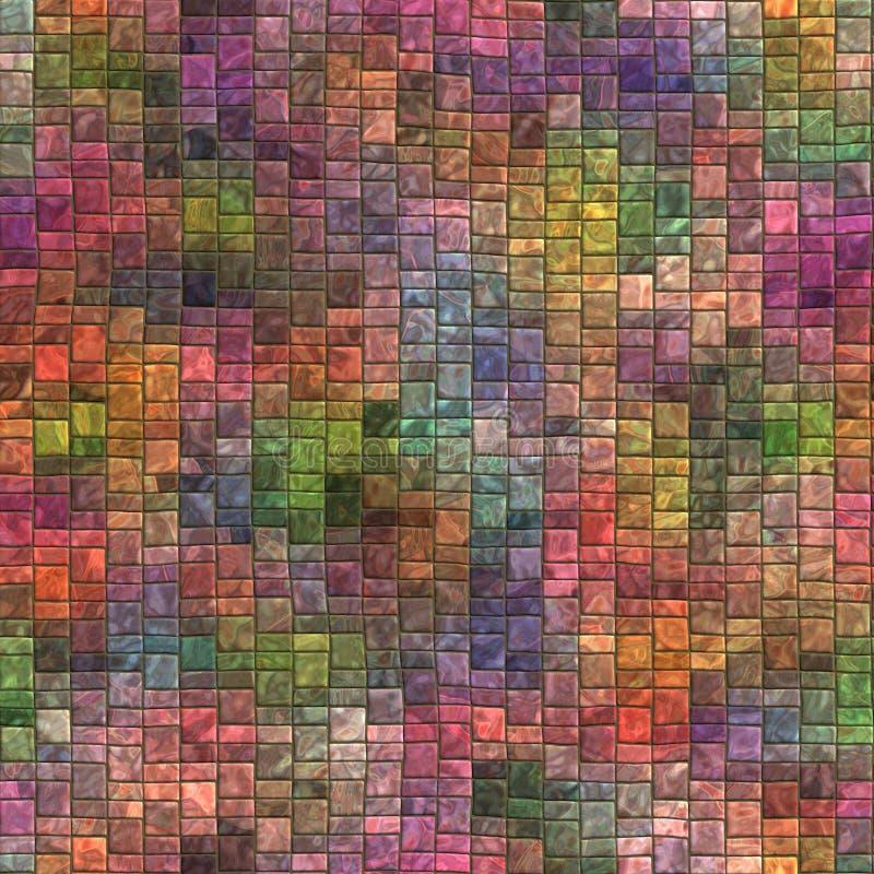 Mosaico senza cuciture e struttura di Tileable illustrazione vettoriale