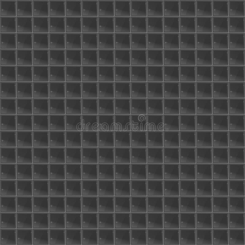Mosaico Tetrahedral do teste padrão preto ilustração do vetor