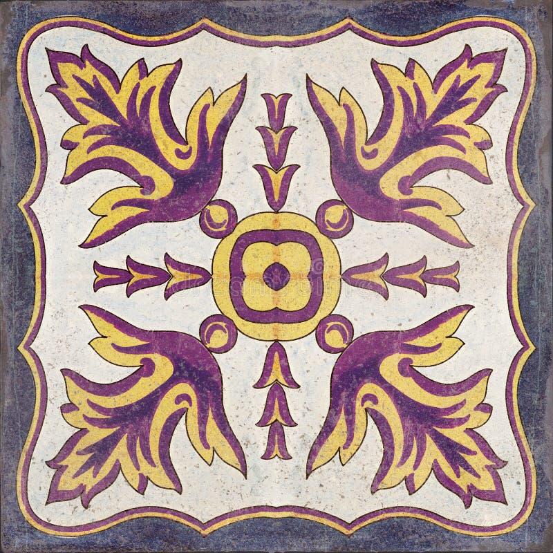 Mosaico tradicional sem costura de Marrocos ilustração royalty free