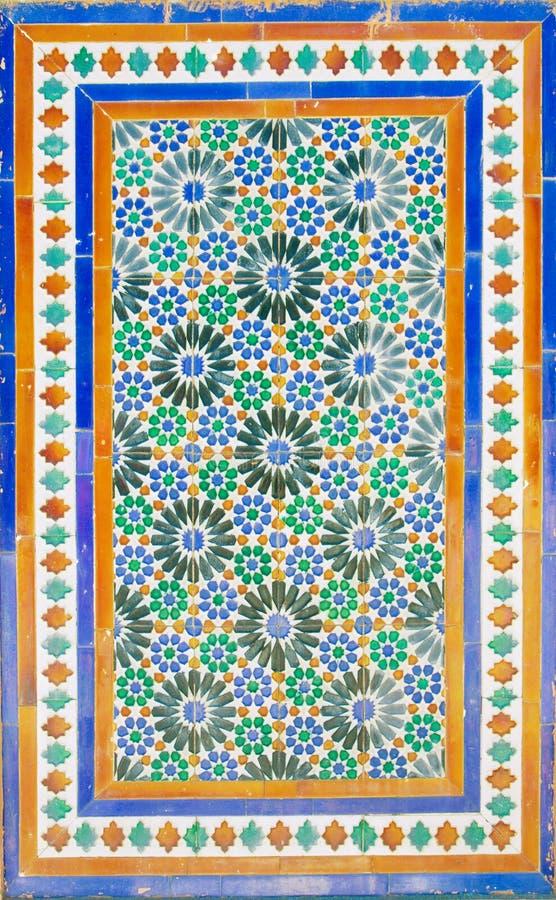 Mosaico velho no monastério de Cartuja, Sevilha fotografia de stock