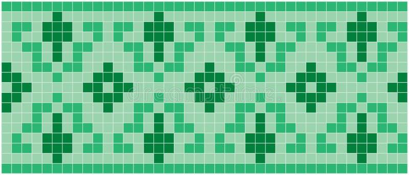 Mosaico verde ilustração royalty free