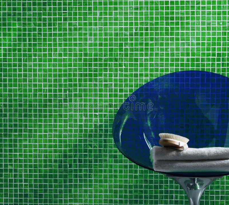 Mosaico Verde Della Stanza Da Bagno Immagine Stock - Immagine: 7380531