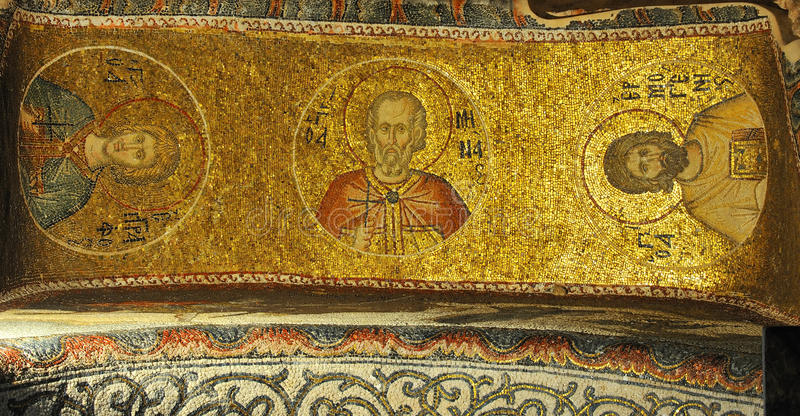 Mosaicos bizantinos imagens de stock royalty free