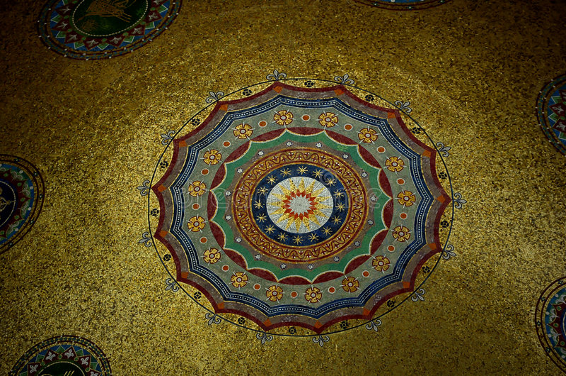 Mosaicos em Kariye Camii fotografia de stock royalty free