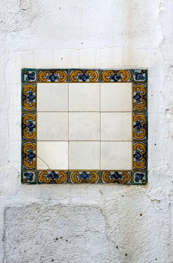 Mosaicos en blanco imagen de archivo